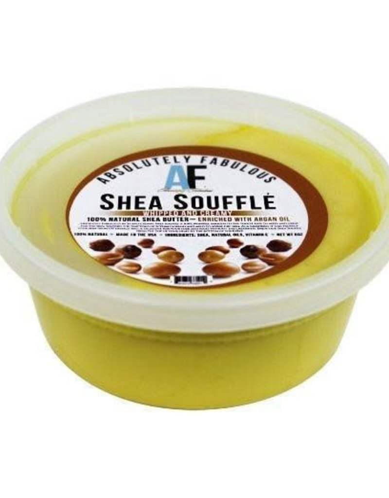 SHEA SOUFFLE WHIPPED AND CREAMY 100% NATURAL SHEA BUTTER 8OZ (PC)