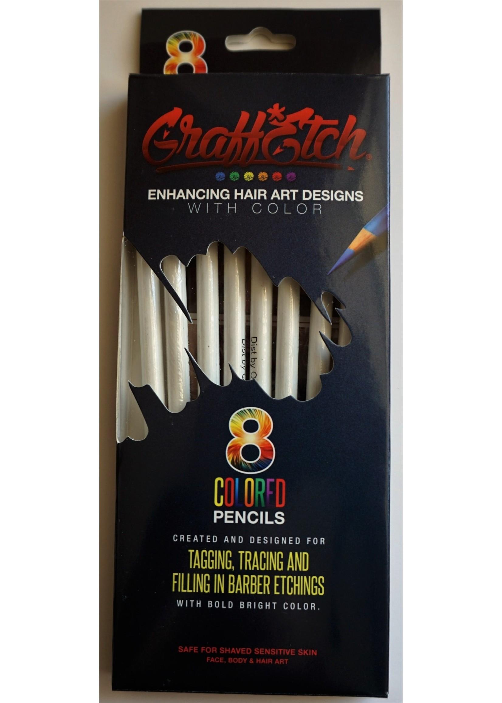 Graffetch Barber Pencils White