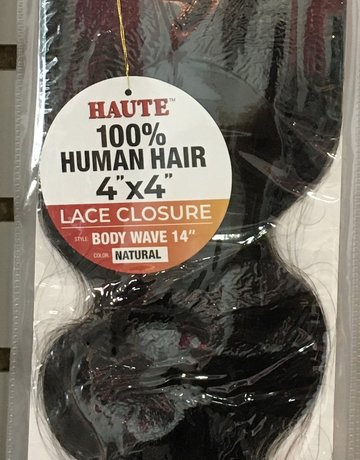 """Bleached Knot Lace Closure 14"""" Body Wave"""