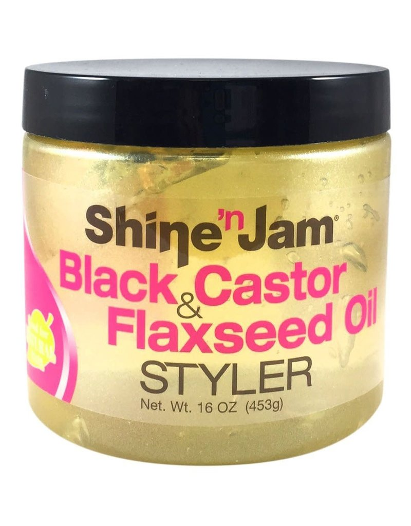 Shine & Jam Black Castor Flaxseed Oil