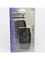2pcs Side Comb-Black