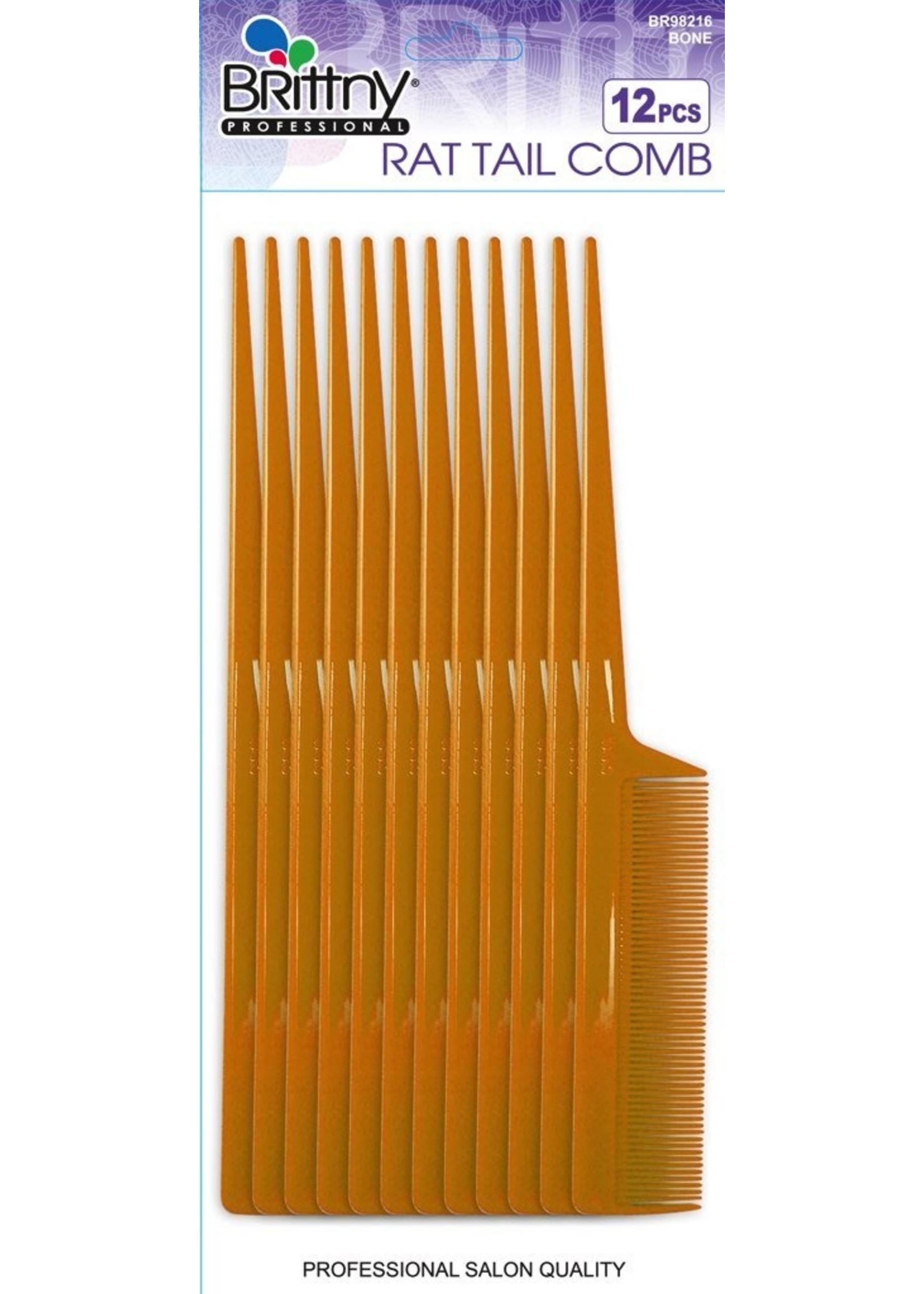 12 pcs Bone Rat Tail Comb