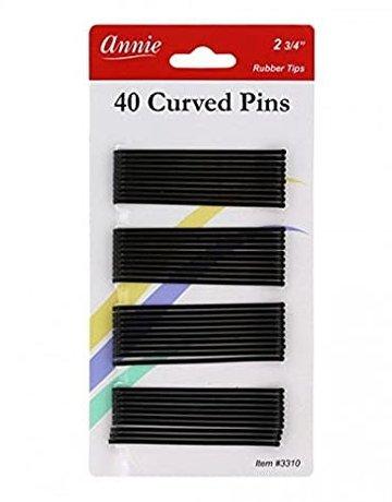 Annie Annie Bobbie Pins Black Curved 2-3/4