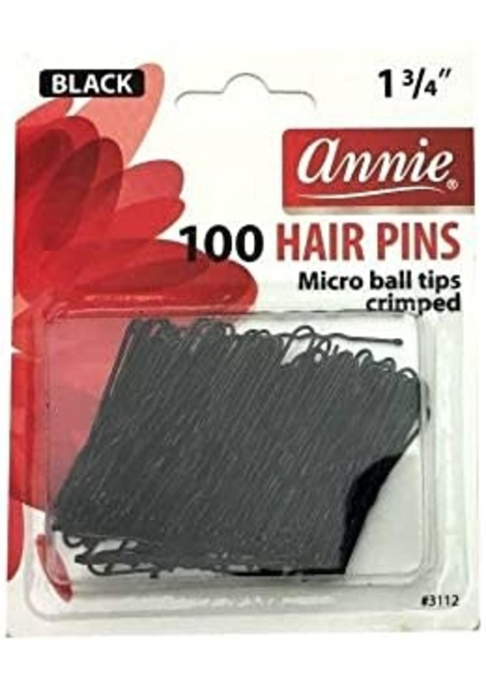 Annie Hairpins Black Ball Tip