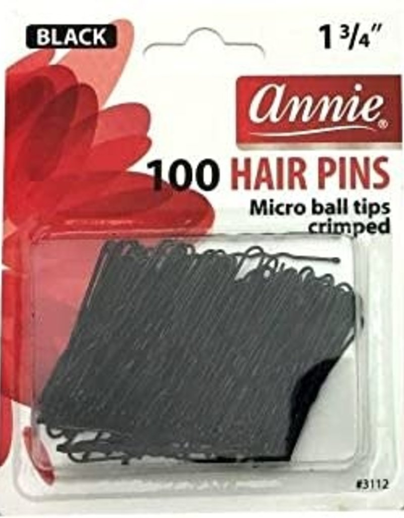 Annie Hairpins Black Ball Tip