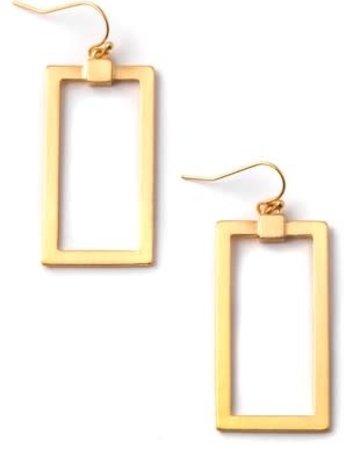 Rectangle Dangle Earrings