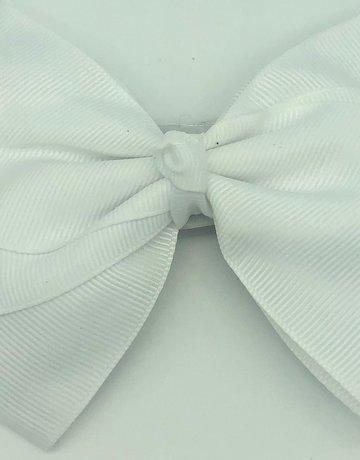 Flat hair bow white