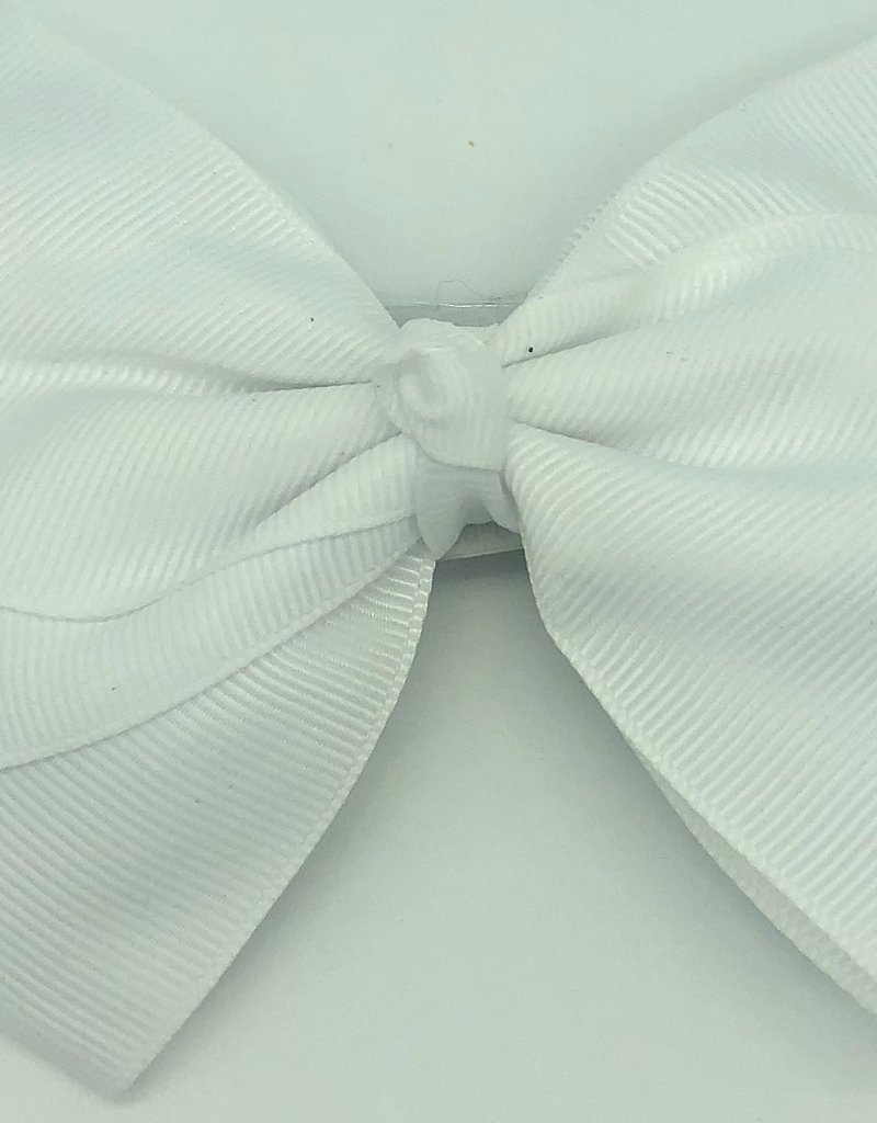 Flat hair bow white