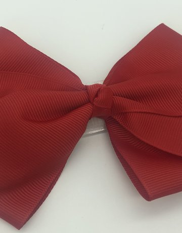 Flat Hair Bow Red