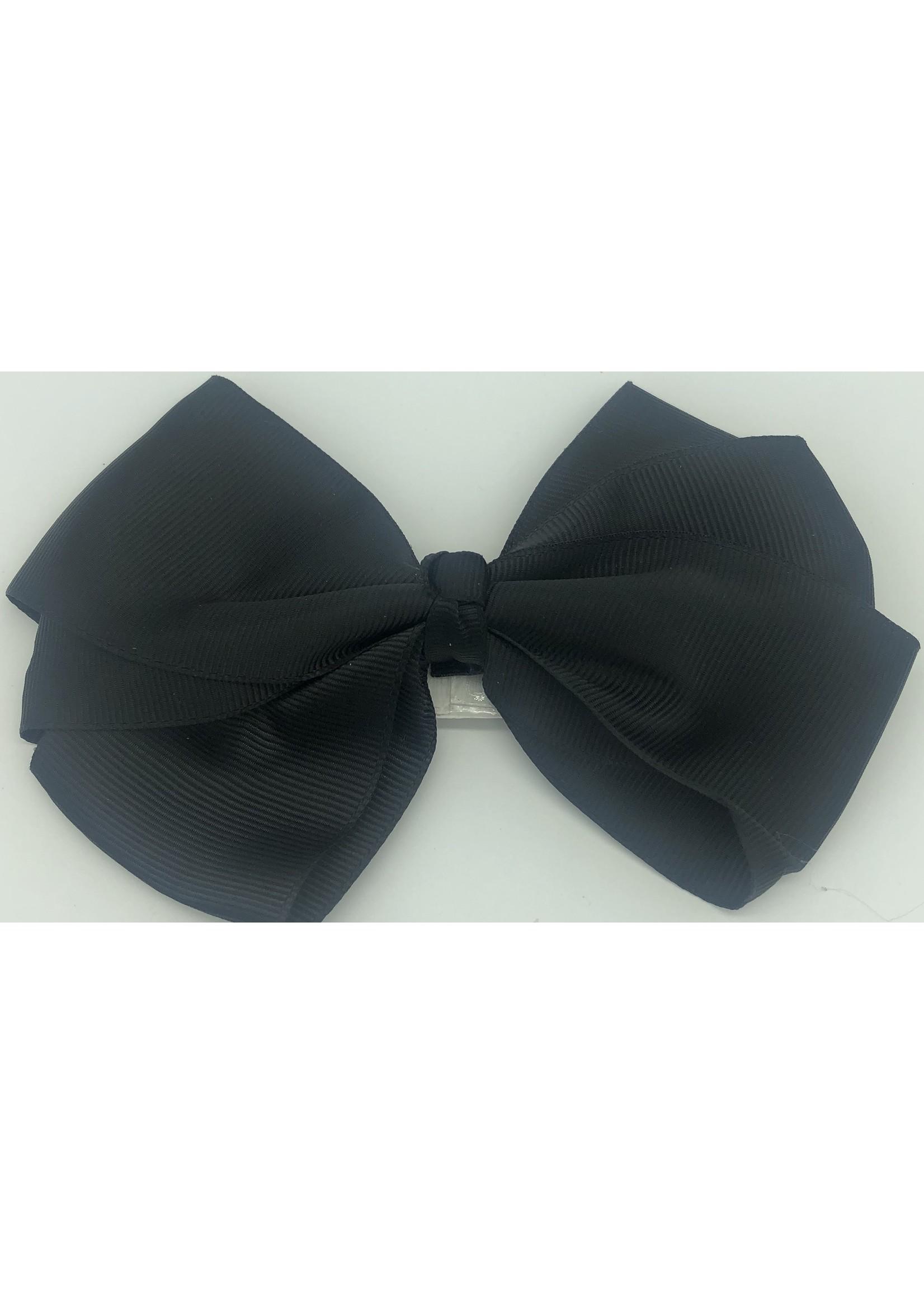 Flat Hair Bow Black
