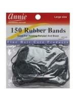 Annie Rubber Bands 150ct Black
