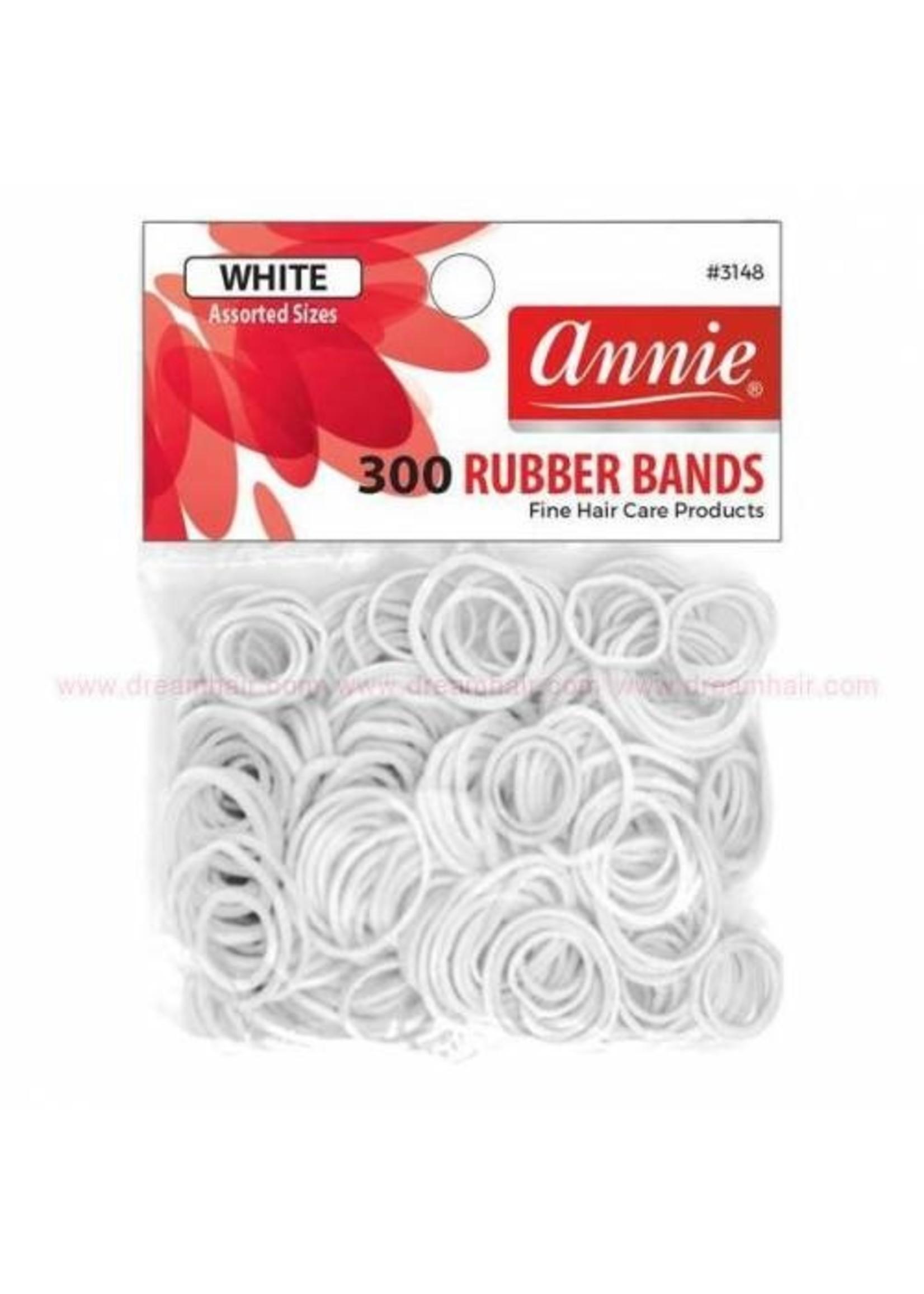 Annie Rubber Bands 300ct White