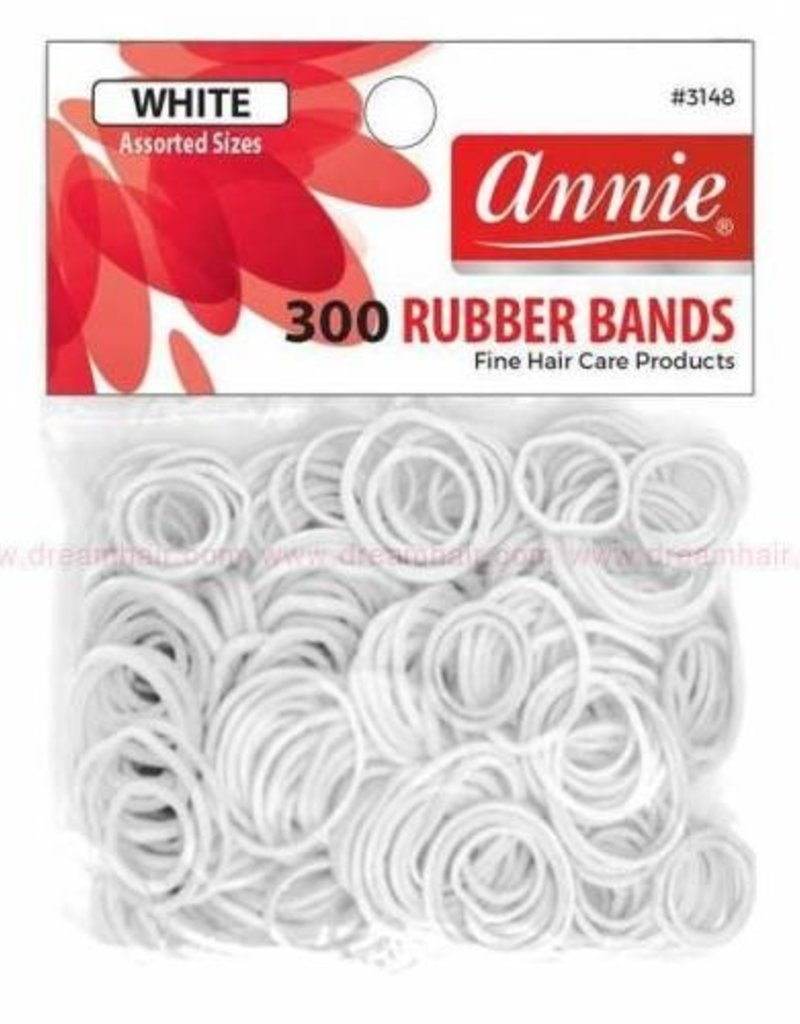 Annie Rubber Bands 300ct White