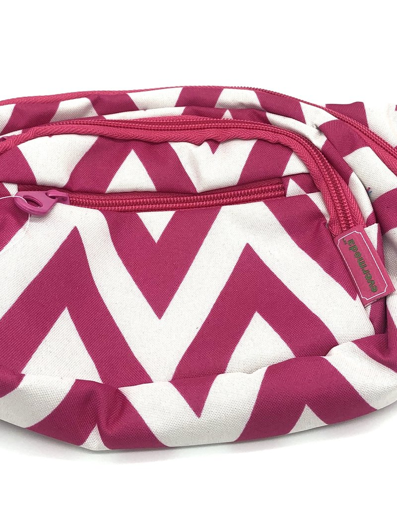 Luggage waist pack chevron fushia