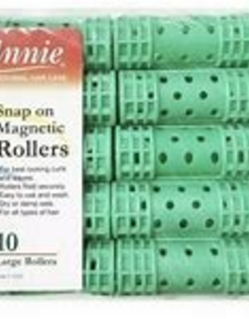 Annie Large Green  Snap-On Magnetic Rollers