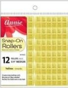 Annie Rollers Snap On Yellow 12ct