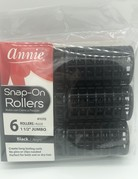 Annie Rollers Snap On Black