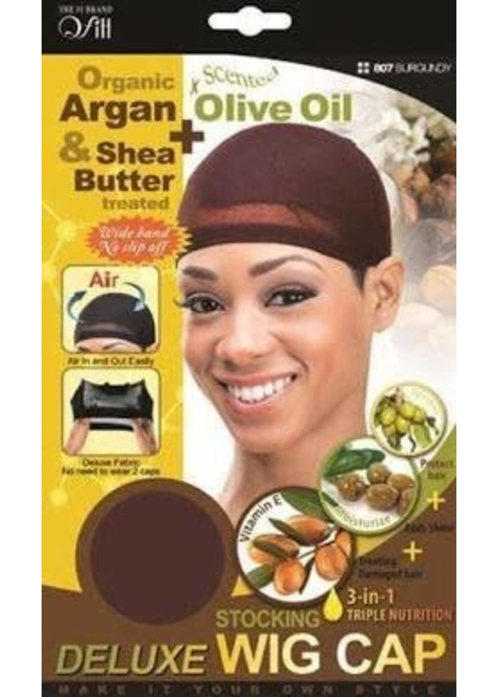Organic Argan & Olive Oil Wig Cap Burgundy