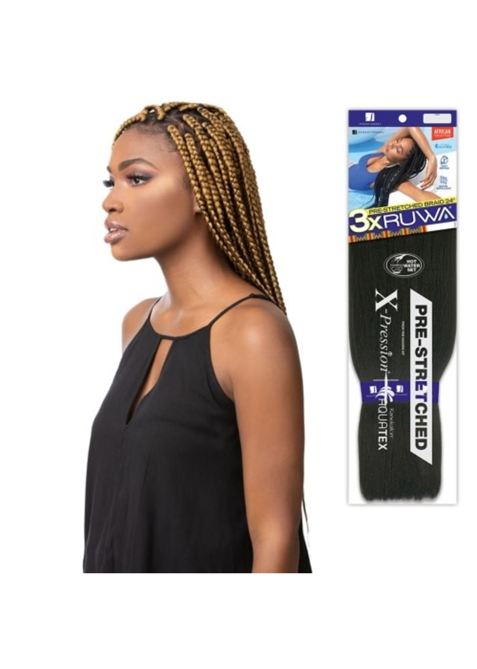 "3X RUWA X-Pressions Braiding Hair 24"""