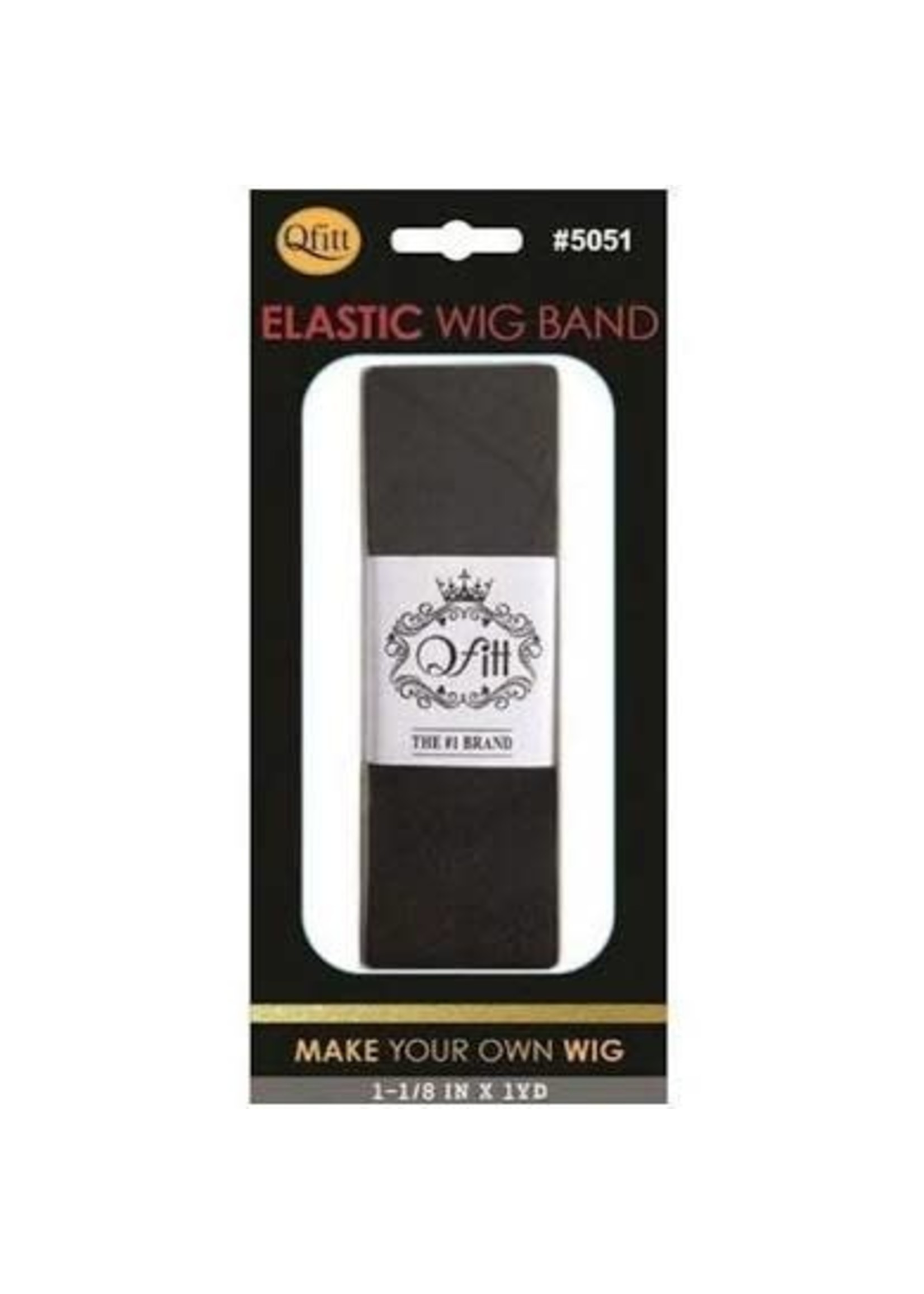 M&M Headgear Wig Band Narrow Black