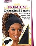 Annie Remi Braid Bonnet Black