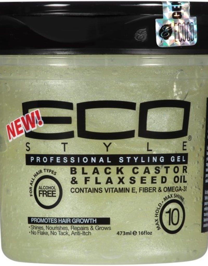 Eco Eco Styling Gel Black Castor Oil Flax 16oz
