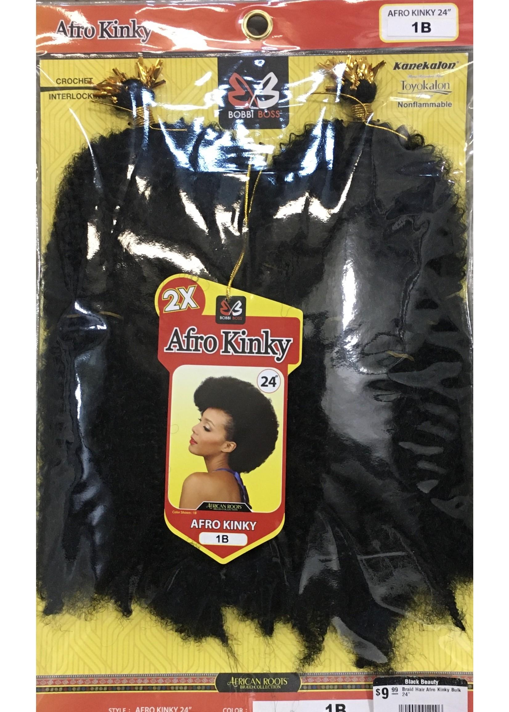 "Braid Hair Afro Kinky Bulk 24"""