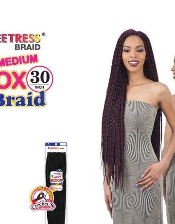 "2x Medium Box Braids 30"" (1B)"