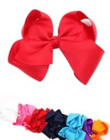 "6"" Solid Color Hair Bow"