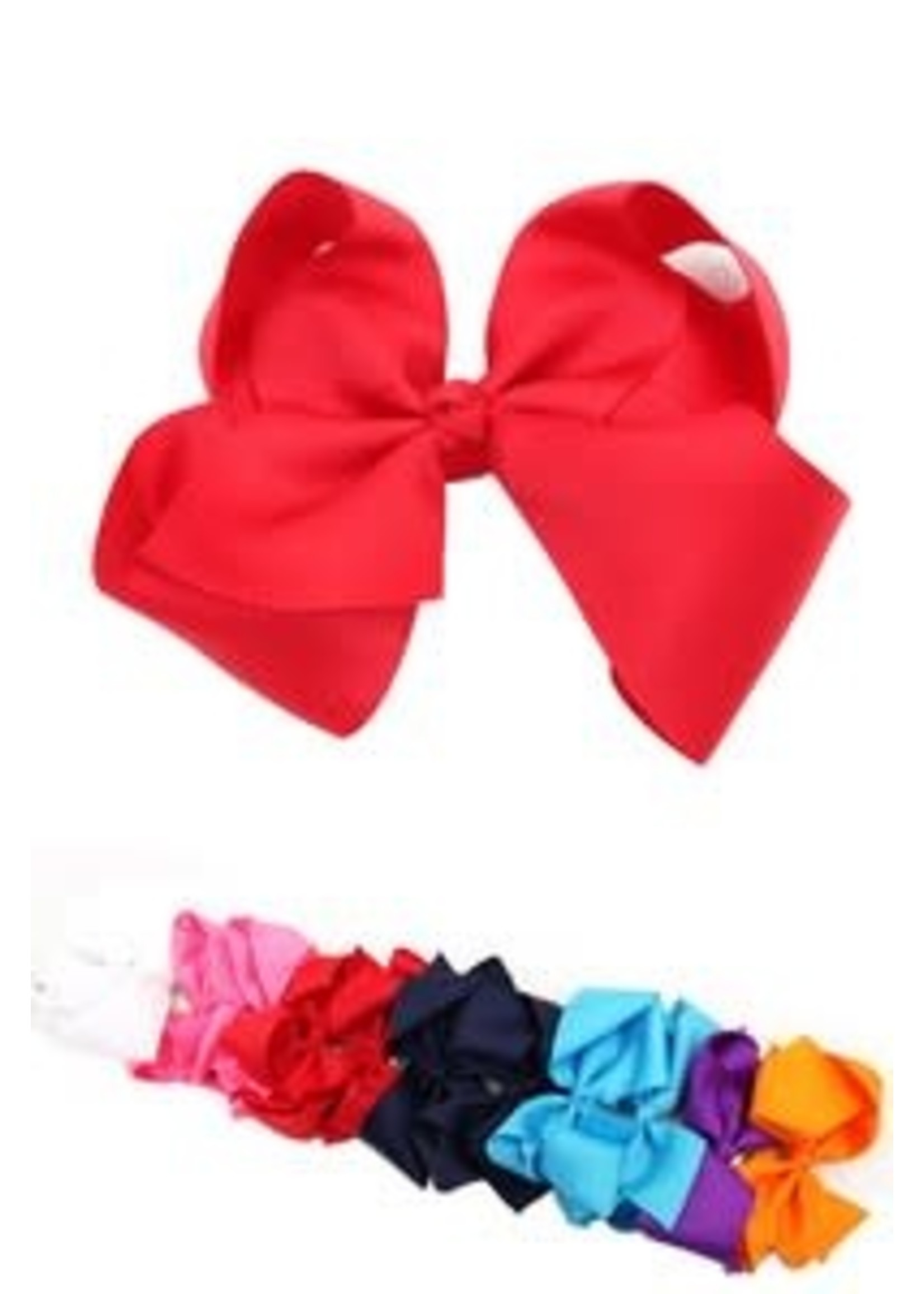 """6"""" Solid Color Hair Bow"""