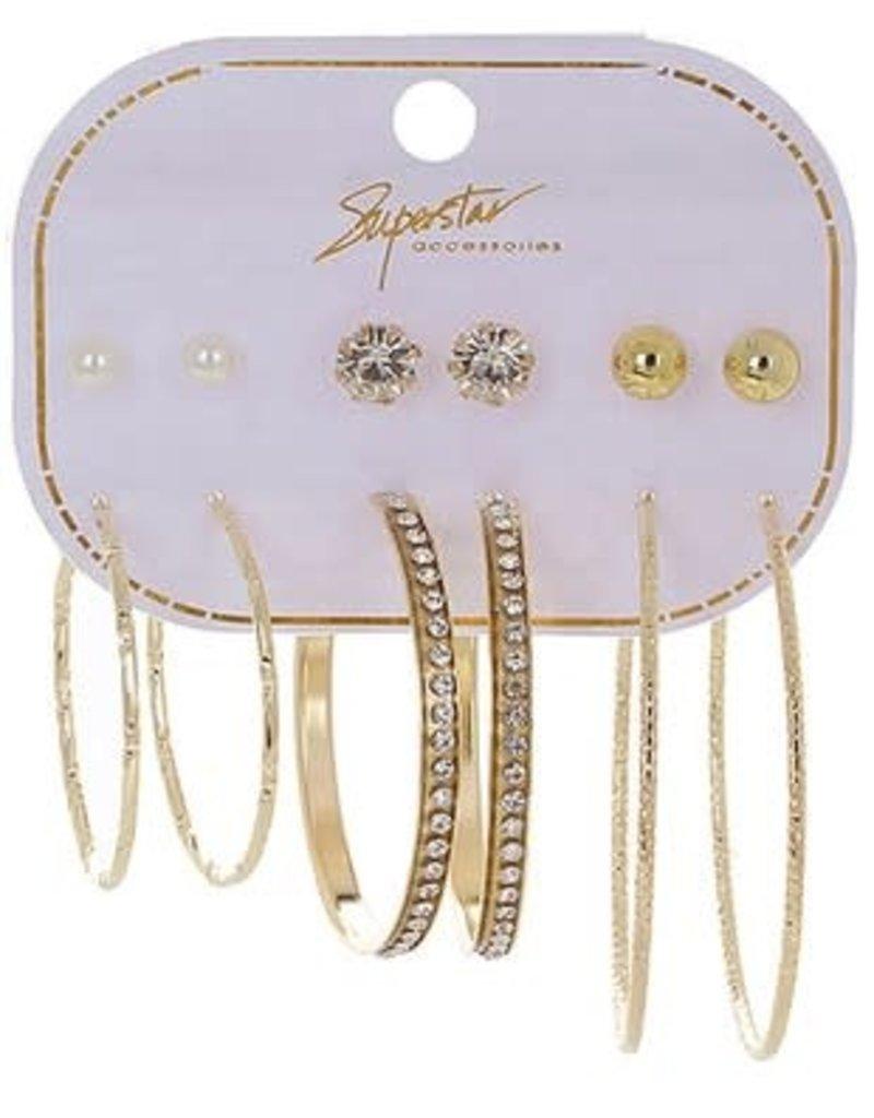 6 pair Multi Earring Set