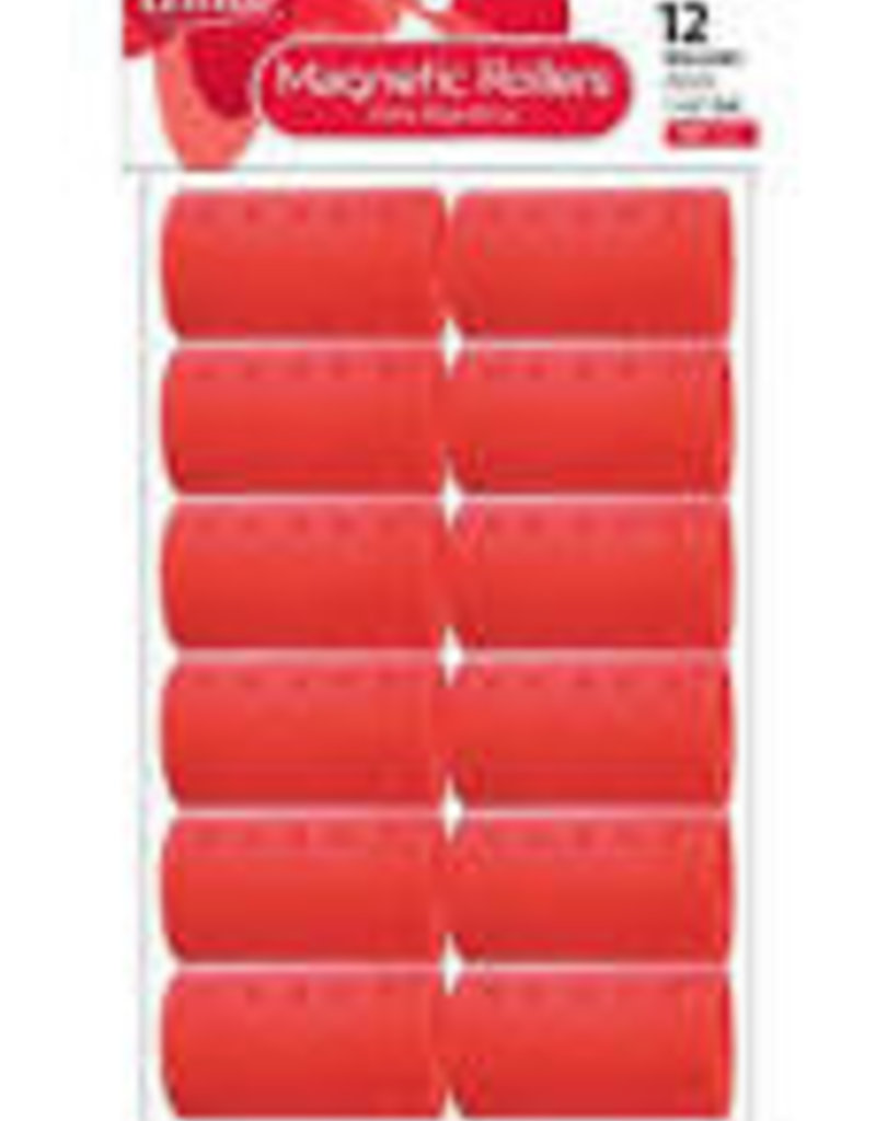 ANNIE ROLLERS MAGNETIC RED 12CT