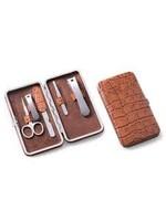 BerkBerk Brown Leather Case Manicure