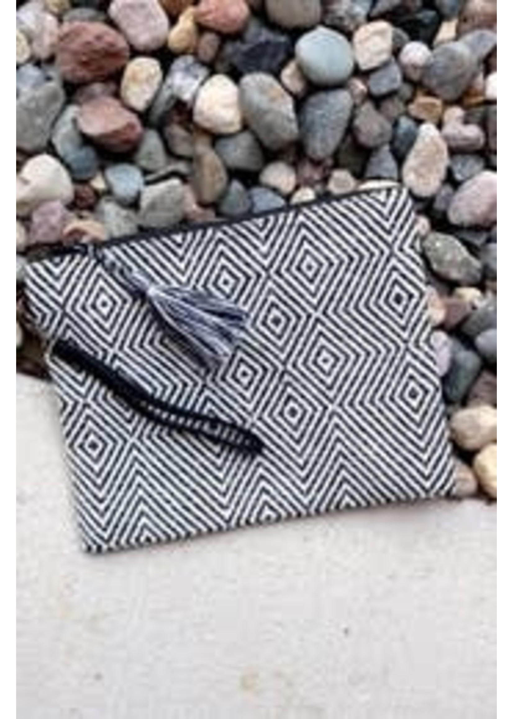 Black & White Woven Purse