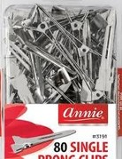 ANNIE PRONG SINGLE CLIPS 80CT