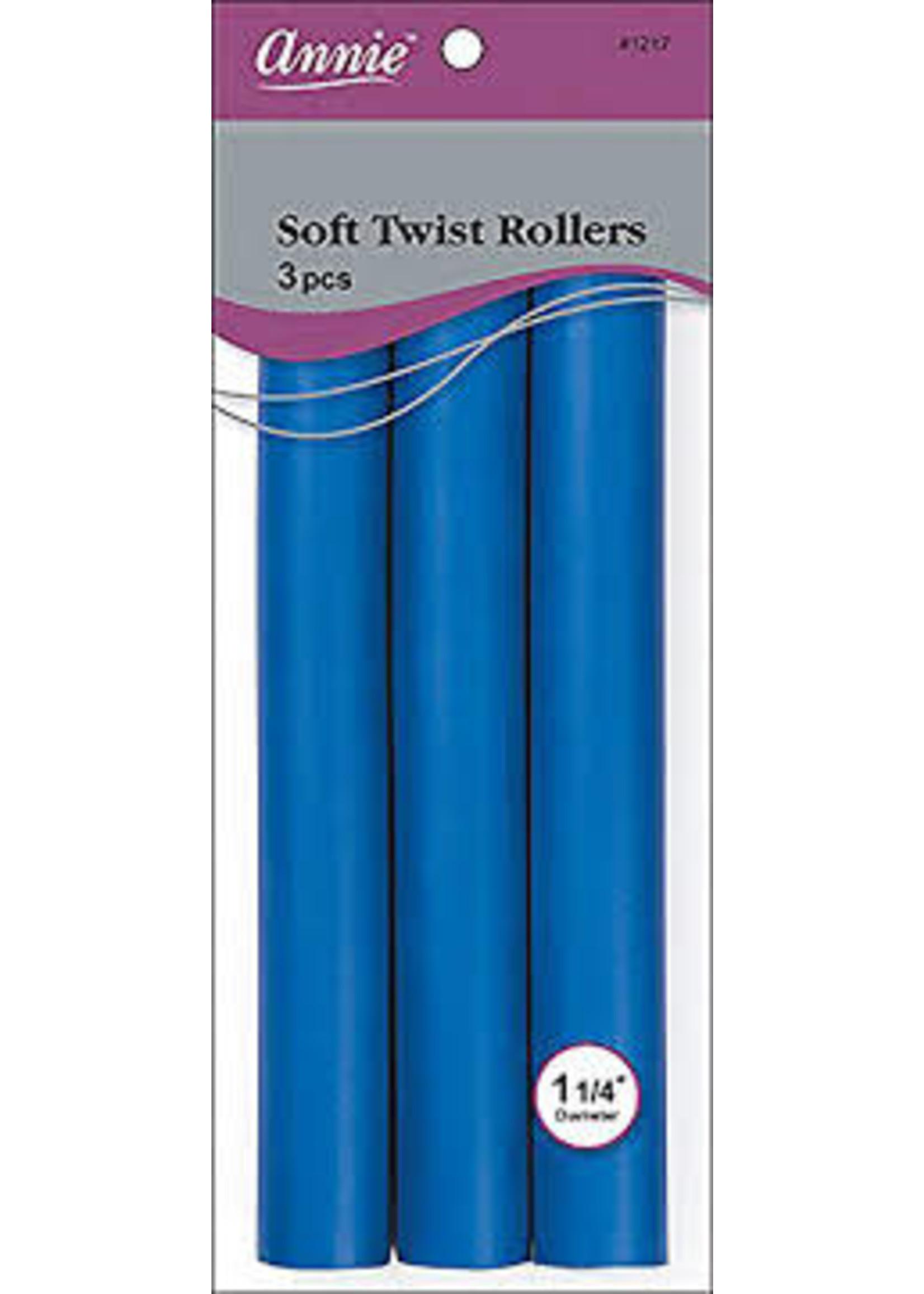 "ANNIE ROLLERS SOFT TWIST 10"" BLUE 1-1/4"""