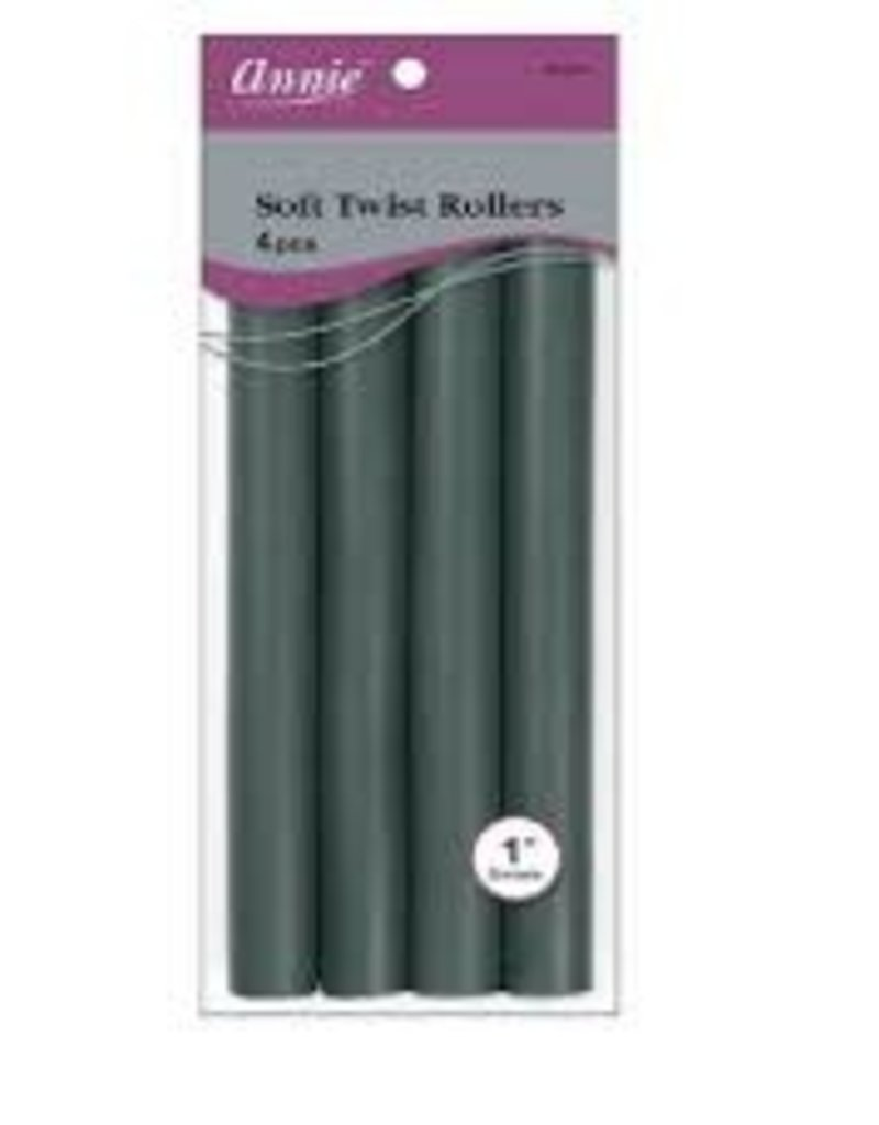 "ANNIE ROLLERS SOFT TWIST 10"" DARK GREEN 1"""