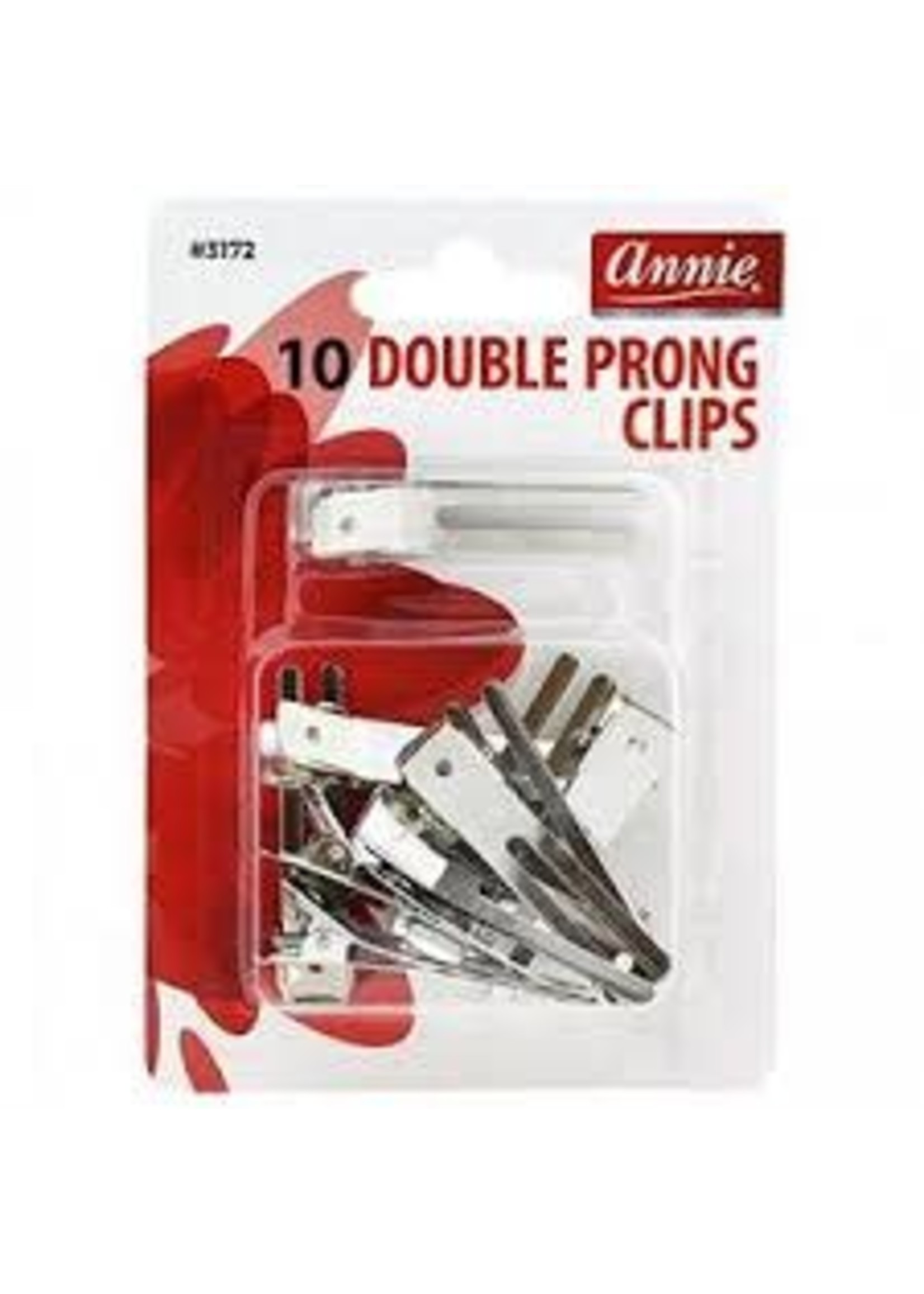 Annie Prong Double Clips 10CT