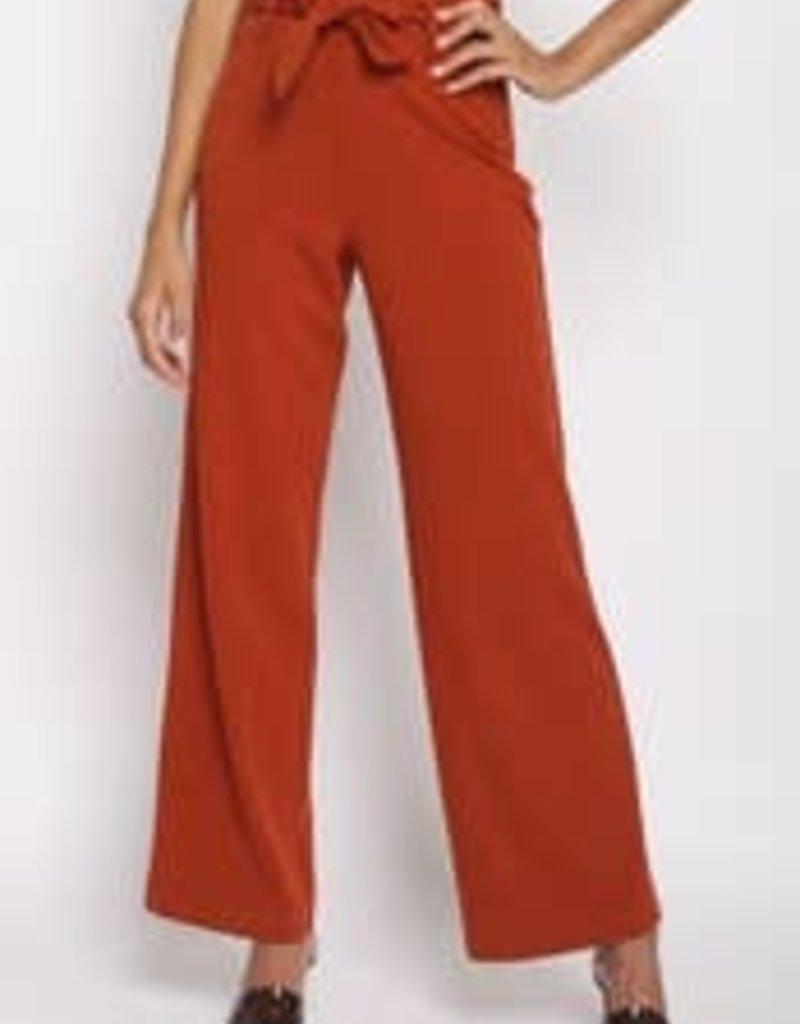 Belted High Waist Pants
