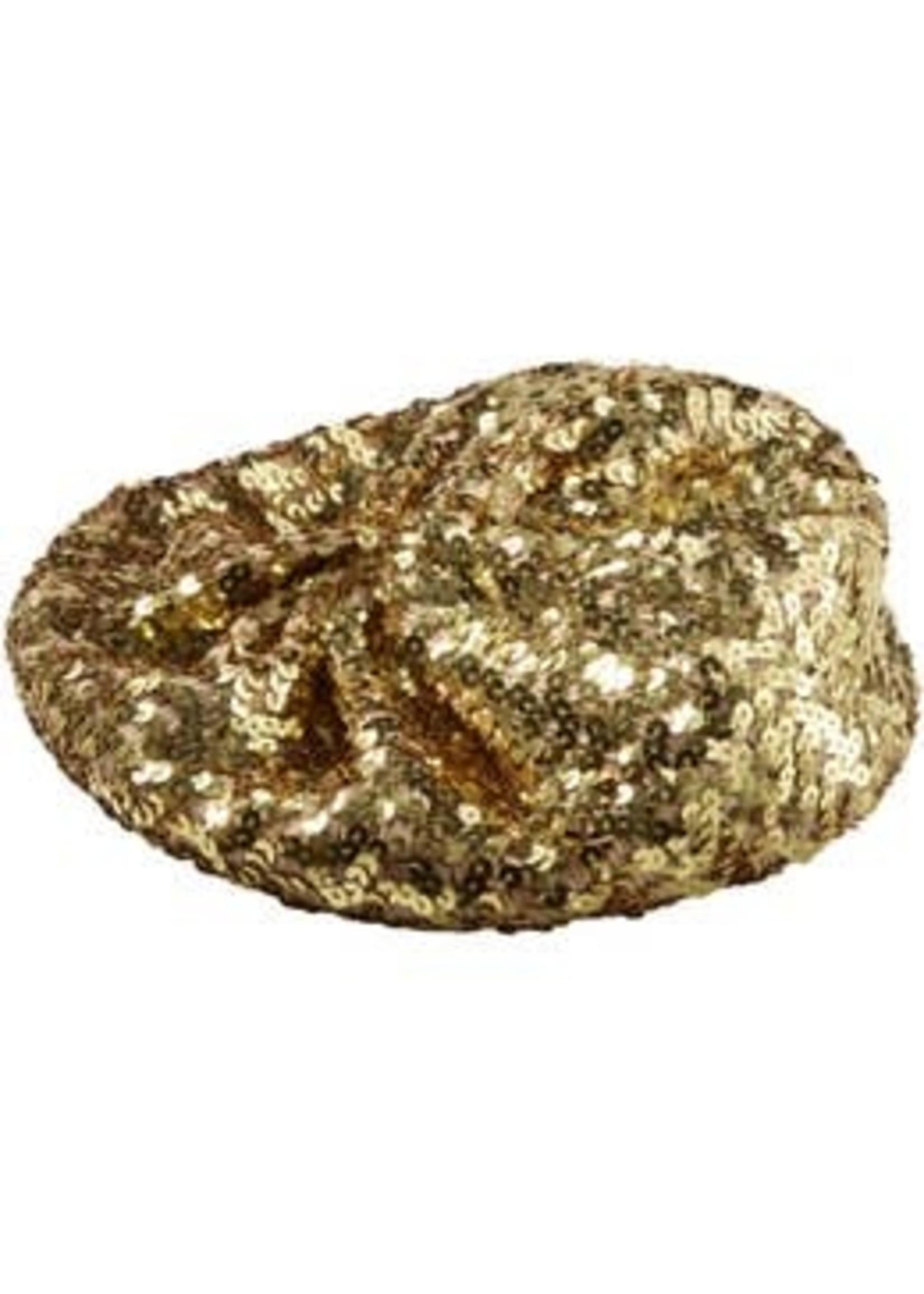 Gold Sequin Beret