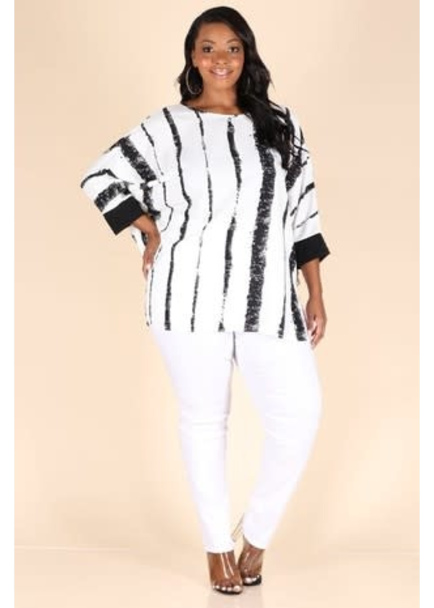 Black & White Top (Plus)