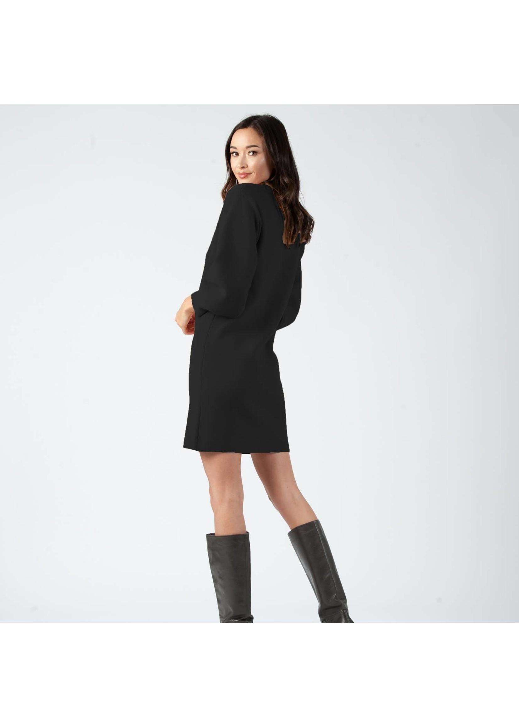 Bubble Sleeve Sweater Dress