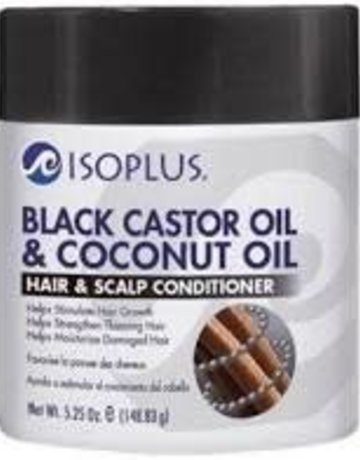 Isoplus Black Castor Oil & Coconut Oil Hair & Scalp Conditioner  5.25oz