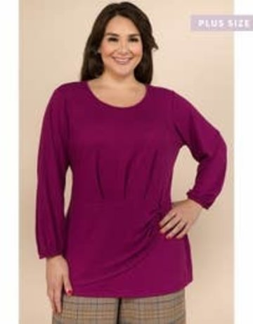 3/4 Sleeve Round Neck Top (Plus)