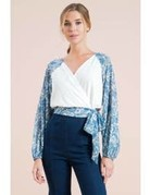 Knit & Woven Combination Top