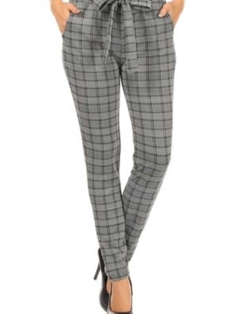 Black & White Striped Loose Fit Pants