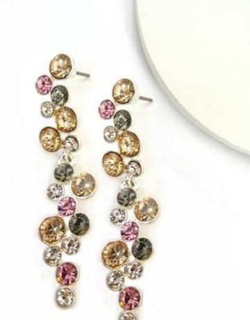 "Dazzling Rhinestones Earrings 2"""
