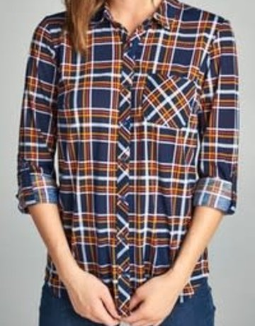 Plaid Shirt Button Down