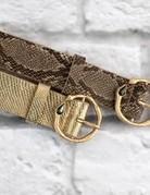 Black Snake Skin Belt