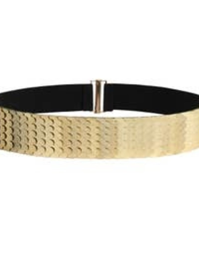 Scaled Yellow Gold Belt